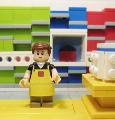 Lego Store Sigfig (WisrthanU) Tags: store lego apron minifig lbr mmcb