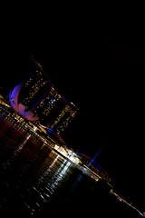 Colors (lastwaterdragon) Tags: light sea sky colors skyline night singapore marinabay sonyrx100