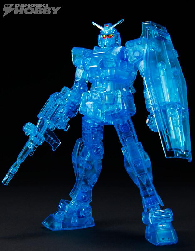 超激限定品「HG RX-78-2 鋼彈 Ver.G30th 電擊HOBBY雜誌 透明藍Ver.」