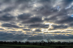 Cracks Are Being To Show (Dave McGlinchey) Tags: sky weather clouds nikon skies cloudy atmosphere rays waterdroplets sunbeam icecrystals cloudscapes crepuscularrays atmosphericoptic d7100 nikonafsdxzoomnikkor1855mmf3556gedii cloudsstormssunsetssunrises cracksarebeingtoshow