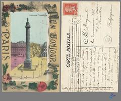 Colonne Vendome (bDom) Tags: paris 1900 oldpostcard cartepostale bdom
