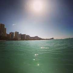 Day 1 of finally using my #GOPRO. No better place, right? #spoiled #waikiki #honolulu #hawaii #swimming #diamondhead #aholeonvacation (erintheredmc) Tags: ocean travel blue winter vacation holiday beach square volcano hawaii islands big paradise waves skies break escape pacific oahu erin rocky tourist wanderlust squareformat hawaiian february mayfair mccormack 2015 iphoneography instagramapp uploaded:by=instagram