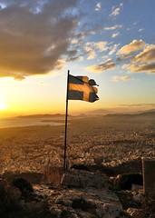 Die Hard (tSos Greq) Tags: sunset greek view flag royal athens greece grecia atenas crisis cityview bankruptcy  eurozone banderagriega grexit