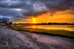 Sunrise   Fort Trumbull Beach (Singing With Light) Tags: beach sunrise photography pentax september milford 20th 2014 charlesisland woodmontbeach ctk3 singingwithlight singingwithlightphotography
