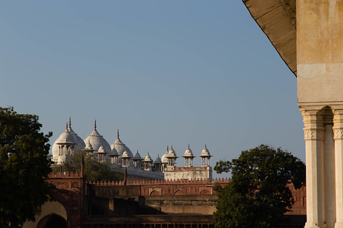 Marble domes above the fort