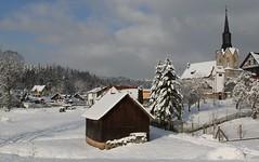 (:Linda:) Tags: snow church barn germany village thuringia brden