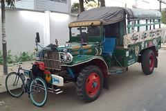 Myanmar, Yangon Region, Yangon City, Hlaing Township, Insein Road (Die Welt, wie ich sie vorfand) Tags: bicycle truck cycling yangon burma dodge myanmar trucks steamroller oldtruck surly rangoon powerwagon yangoncity hlaing superdodge yangonregion inseinroad kamaryut kamayuttownship hlaingtownship