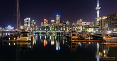 20160502-42-Viaduct Harbour reflections_pano (Roger T Wong) Tags: city newzealand reflection water skyline night buildings lights auckland northisland skytower cbd 2016 ptgui viaductharbour panopanorama rogertwong sonya7ii sel28f20 sonyilce7m2 sonyalpha7ii sonyfe28mmf2