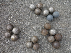 different boules balls (squeezemonkey) Tags: france court patterns balls boules gravel orpierre gtesetchambresdhteslemoulin