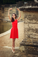 Dance like no one's watching | Versailles, France (Sophie Choate) Tags: red portrait ballet france castle stone gardens dance estate dancer palace versailles pointe chateau grandcanal palaceofversailles jardinsdeversailles versaillesgardens parcdeversailles versailleschateau