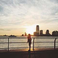 Hudson River Park (B.C. Angell) Tags: nyc newyorkcity children square jerseycity sunsets hudsonriverpark squareformat esplanade hudsonriver iphoneography instagramapp uploaded:by=instagram vscocam