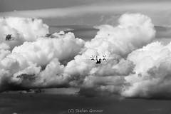 Ab Bern-Belpmoos (stgenner) Tags: monochrome airplane jet wolken sw flugzeug sturm berlintxl skyworkairlines dornier328130 bernbelpmoos sx211