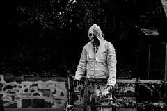 Skeleton Guy (WODKA & CAMERAS) Tags: bw white black halloween germany skeleton deutschland skull eerie sw weiss fasching carneval schwarz karneval skelet schdel
