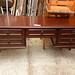 Mahogany long 5 drawer dresser /desk