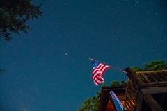 Starry Night at the Lake - 1 (taylorsloan) Tags: sky lake green night stars galaxy lakeoftheozarks starrynight noob clearnight starsinthesky takingnightshots