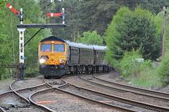 The Royal Scotsman (mike_j's photos) Tags: scotland nikon railway railtour aviemore strathspey class66 royalscotsman gbrf 66737 p530