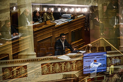 GREECE-ATHENS-POLITICS (X-Andra) Tags: alexis greek bill exposure action euro politics athens double greece parlament crisis attica grc prior eurogroup legislation hellenic austerity tsipras
