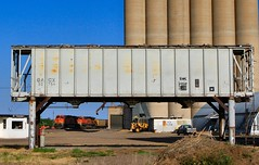 West Texas Storage (knutsonrick) Tags: train texas amarillo claude westtexas bnsf coaltrain grainstorage bnsfrailway coveredhopper