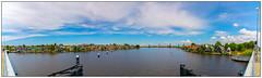 Zaanse Schans panorama (voorhammr) Tags: gras zon zaanseschans zaandam molens 2016 vakwerk huisjes blauwelucht jolandakraus