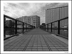 Hasle (2) (frode skjold) Tags: bridge bw building monochrome norway architecture outdoors norge blackwhite bro bru arkitektur bygninger hasle tegleverket fujifilmx20 photoshop14