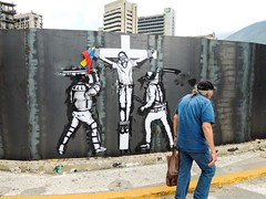 Cristo perdona pero no olvida (D11 Urbano) Tags: art libertad arte venezuela jesus caracas bandera urbano cristo pm lucha policia venezolano arteurbano guardias d11 streetartvenezuela artvenezuela d11streetart arteurbanovenezuela d11art d11urbano