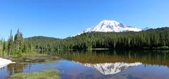 MtRainierReflectionLake (Aubrey Sun) Tags: park camp volcano washington mt mount national rainier cascades wa muir