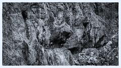 Val dUina Gorge (:: Blende 22 ::) Tags: blackandwhite bw italy white black monochrome rock vertical blackwhite val valley walls sdtirol engadine vinschgau einfarbig swissborder canoneos400ddigital sigma170700mm schlinigtal slinigia sesvennarefuge