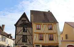 Noyers, France (Christine Dolan) Tags: france architecture buildings wooden ancient timbered
