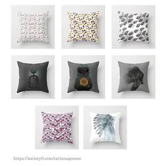 Almofadas (TatianaArts) Tags: shop illustration robot pattern lion sailormoon almofadas society6