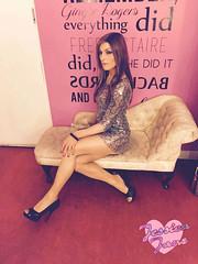 Sweet on the Seat (jessicajane9) Tags: tv highheels cd tights crossdressing tgirl transgender lgbt transvestite trans crossdresser tg ladyboy nylons snakeskin sequin minidress pinkpunters feminized