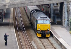 3/4 stock shot (Stapleton Road) Tags: station platform railway locomotive teignmouth class57