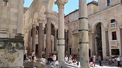 Ancient Rome. The Peristyle, Diocletian's Palace, Split, Croatia (mike catalonian) Tags: croatia palace diocletian split emperor peristyle ancientrome iiicenturyad