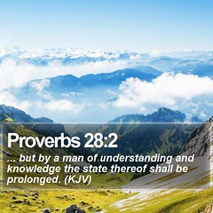 Daily Bible Verse - Proverbs 28:2 (daily-bible-verse) Tags: worship scriptures jesusislord dailydev