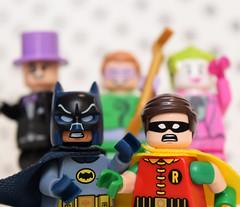 """Holy Villain Hijinks, Batman!"" (Andrew Cookston) Tags: show stilllife macro classic robin comics photography dc tv lego 1966 66 batman 1960s dccomics adamwest thejoker thepenguin theriddler burtward 76052 andrewcookston"