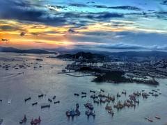 End of Day Hong Kong (shinnygogo) Tags: hongkong sunset hdr asia travel waterfront westkowloon kowloon victoriaharbor