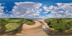 Lunan Bay and Red Castle - 26-06-2016b (G Davidson) Tags: uk panorama beach bay coast scotland angus lunan 360 2016
