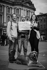 Frank, Isabelle, Richard et Pitchou (Nuit Debout Toulouse) Tags: portrait france portraits place travail toulouse nuit mots gens loi capitole debout elkhomri choisis 104mars