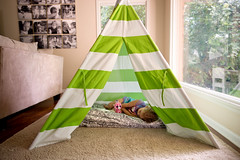 Napping in a Tipi (donnierayjones) Tags: sleeping girl toy kid toddler nap child sleep blanket napping teepee asleep tipi 3yo