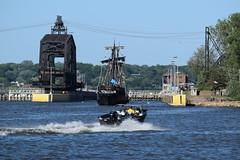 photobomb (David Sebben) Tags: columbus history river mississippi ships replica nina quadcities pinta