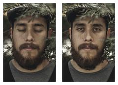 Two faces. (Rey Matambre) Tags: camera wood portrait green bread persona 50mm nikon bokeh expression personality retratos expressive acr hombre barba cameraraw expresin