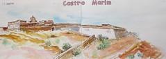 Un petit voyage en Algarve au Portugal N°1 (geneterre69) Tags: portugal aquarelle forteresse encredechine algarge