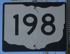 OH-198 (paulthemapguy) Tags: 198 shield sign ohio state route
