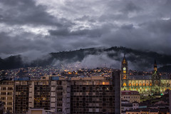Quito's night (leoleamunoz) Tags: city panorama cloud skyline night landscape ecuador ciudad paisaje