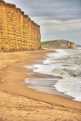 Broadchurch...... er I mean West Bay. (Jason_Bowler) Tags: sea seascape beach cliffs shore dorset tonemapped broadchurch