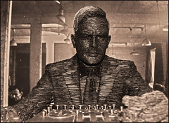 An Enigma Man (Vide Cor Meum Images) Tags: mac010665yahoocouk markandrewcoleman markcoleman videcormeumimages vide cor meum nikon d750 bletchleypark war ww2 codebreakers enigma cyphers mathameticians alanturing gchq artificial intelligence computing slate statue art stephen kettle theimitationgame heroes scientist bletchley park