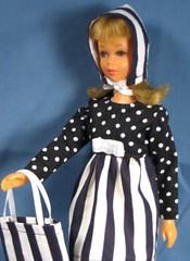 Stripes and Dots set (Debras Closet) Tags: white black mod francie dollclothes