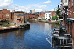 River Aire through Leeds (Halliwell_Michael ## More off than on this week #) Tags: city reflection water architecture buildings reflections landscapes leeds cities rivers westyorkshire riveraire waterscapes leedsliverpoolcanal 2016 nikond40x leedswaterfrontfestival