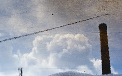 Reflect (Electric Funeral) Tags: sky reflection texture water clouds digital canon photography midwest nebraska iowa fremont kansascity smokestack missouri lincoln kansas omaha desmoines councilbluffs xti