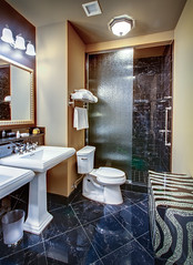 Hotel Mazarin bathroom (New Orleans Hotel Collection) Tags: architecture bathroom shower hotel sink toilet courtyard frenchquarter