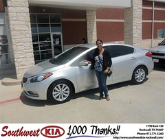 Southwest Kia Rockwall Texas Customer Reviews and Testimonials - Melissa Mendez (Southwest Kia Rockwall) Tags: new southwest car sedan truck wagon happy dallas texas tx used vehicles mesquite bday dfw kia van suv coupe rockwall dealership hatchback dealer customers minvan 4dr metroplex shouts 2dr preowned